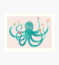 octopus ice cream social Art Print