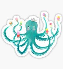 octopus ice cream social Sticker