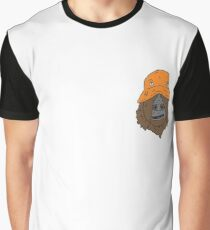 The orange hat monkey Graphic T-Shirt