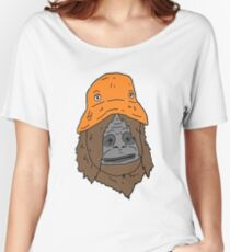 The orange hat monkey Women's Relaxed Fit T-Shirt