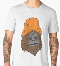 The orange hat monkey Men's Premium T-Shirt