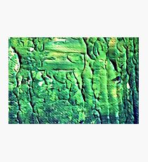 Energetic Abstractions - Green Matrix Grunge Photographic Print