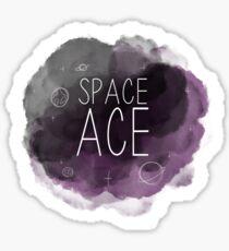 Pegatina Space Ace - Orgullo Asexual