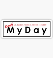 MY DAY - DAY 6 member name Sticker