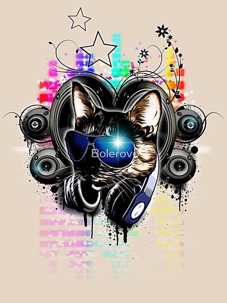 The Cat escuchando música - The drop bass de Bolerovo