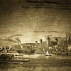 The River Thames and the Tower of London 1885 by Dennis Melling