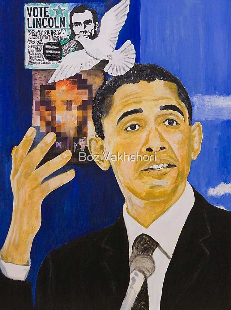 Lincoln-Obama by Boz Vakhshori