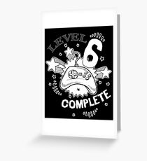 Level 6 Complete Gamer Shirt Greeting Card