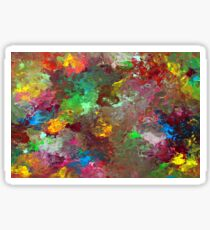 Energetic Abstractions - Colouring In The Clouds Sticker