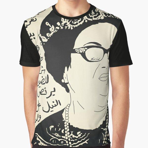 "Oum Kalthoum & the lyrics to ""Toof w shoof."" Graphic T-Shirt"