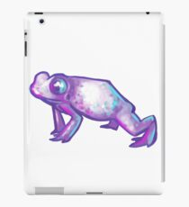 pastel bi colours frog iPad Case/Skin