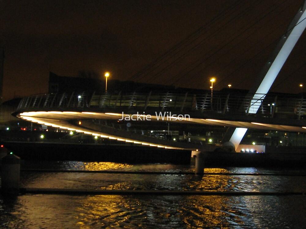 Millenium Bridge in the dark by Jackie Wilson