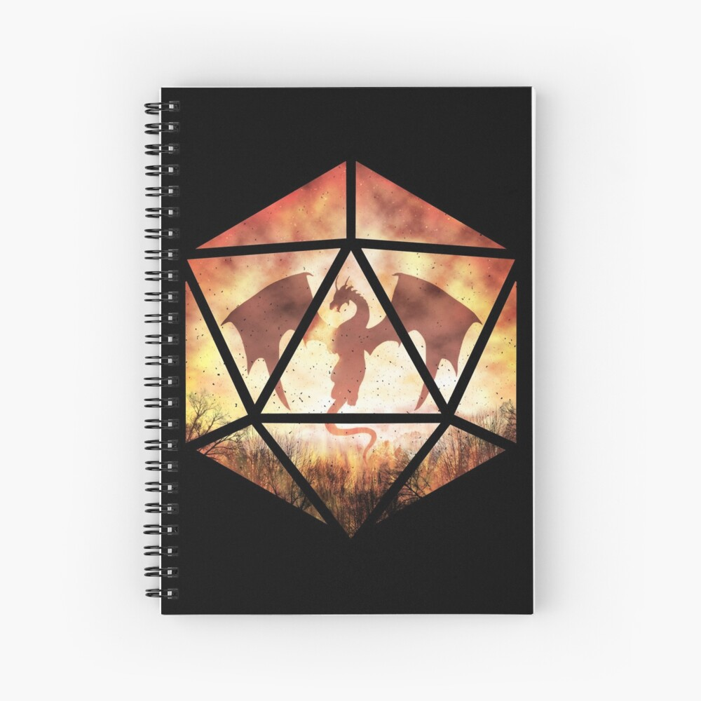 Fire Dragon D20 Spiral Notebook