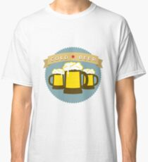 Cold Beer Badge Classic T-Shirt