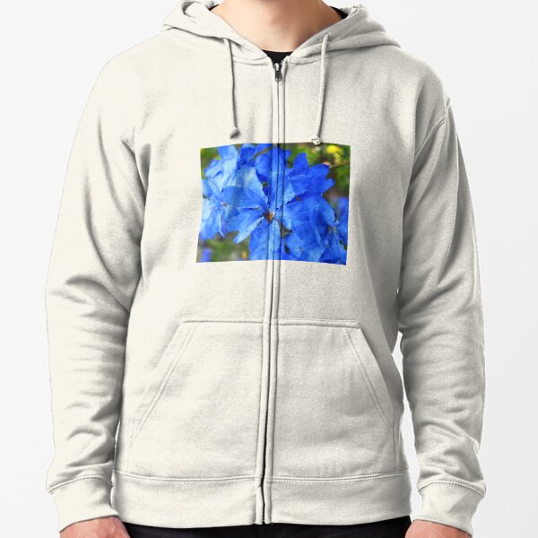 Blue Leschenaultia  Zipped Hoodie