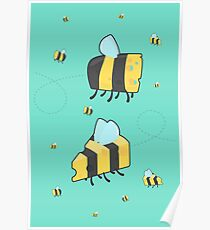 Bumble Cheese Summer (green) Poster