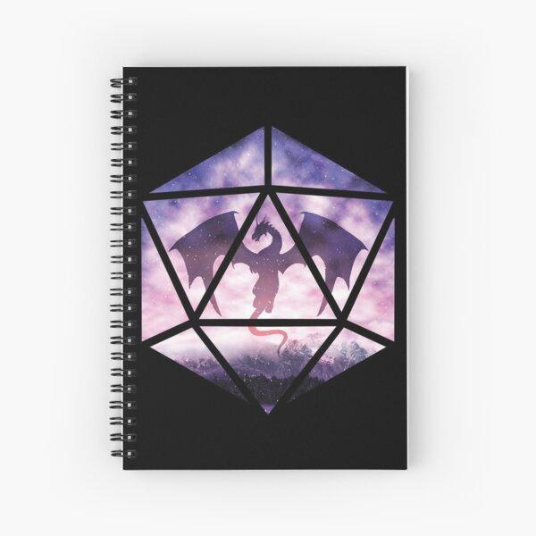 Purple Sky Dragon D20 Spiral Notebook