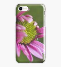 Delicate pink flower pedals around green center iPhone Case/Skin