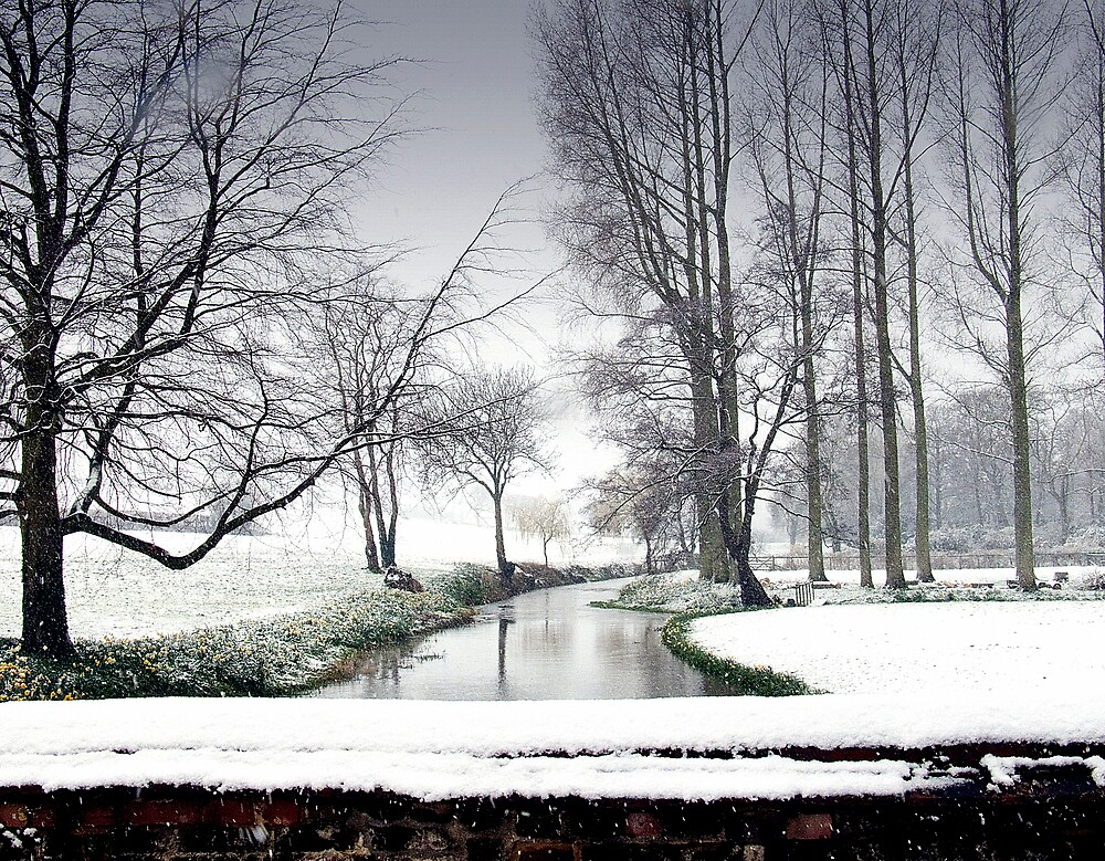 Snowfall at the River Wensum, North Norfolk by johnny2sheds