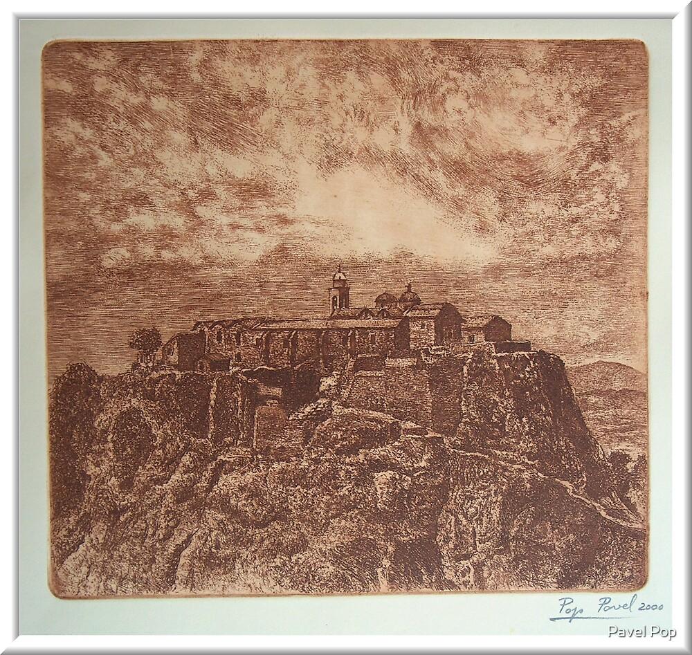 """Stavrovouni Monastery on Cyprus"" by Pavel Pop"