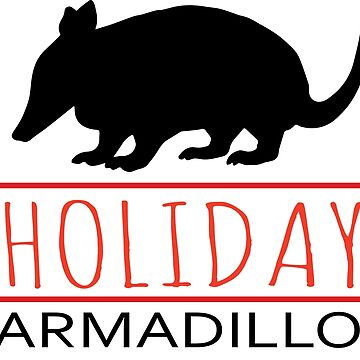 Holiday armadillo by CasualMood