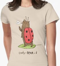 Lady-BEAR-d Womens Fitted T-Shirt