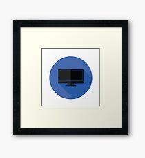 TV icon Framed Print