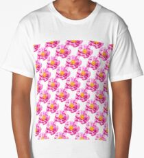 Seamless background with flowers Long T-Shirt