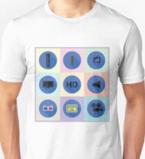 set of media flat icons T-Shirt