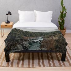 River in the Forest Throw Blanket