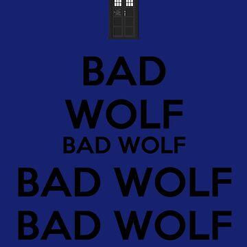 Keep calm - Bad Wolf T-shirt by salodelyma