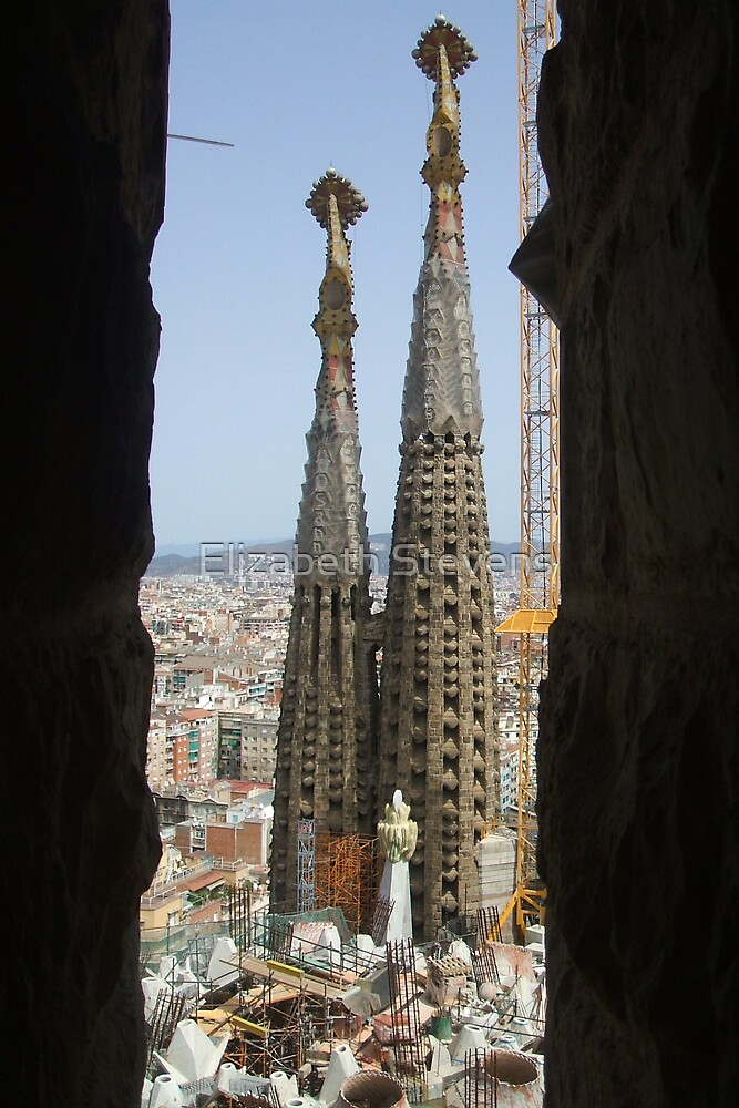 Towers in Barcelona by Elizabeth Stevens