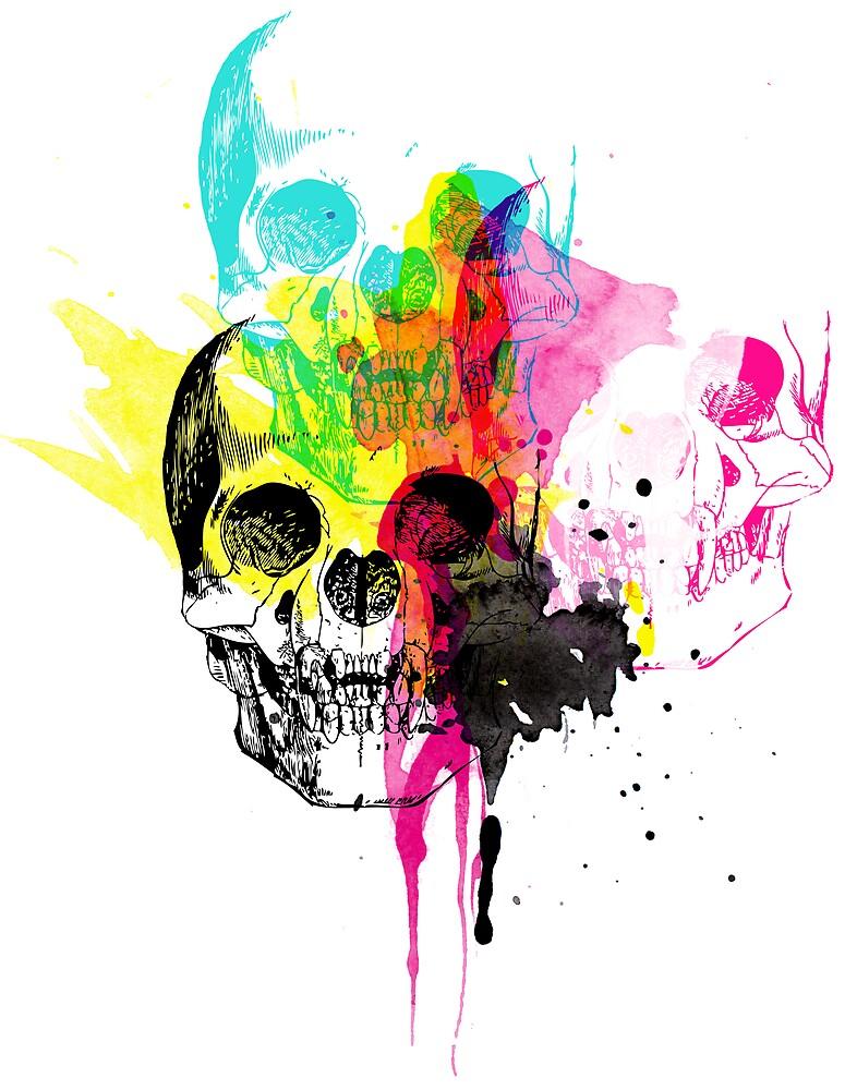 cmyk skulls by spinsugar