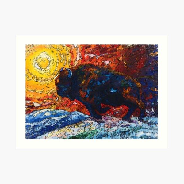 Bison Running Art Print