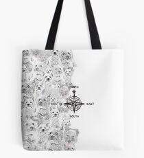 North South East & Westie Dog Tote Bag