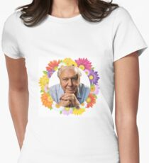 Sir David Attenborough. The man, the legend. Womens Fitted T-Shirt