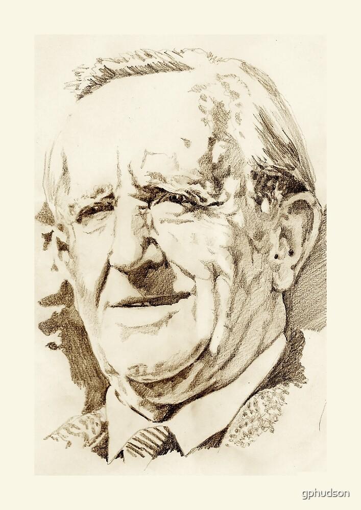 J. R. R. Tolkien in sepia by gphudson