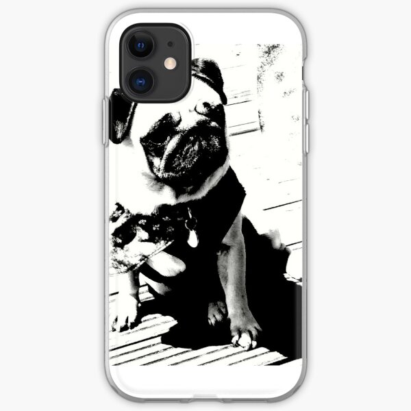 Worlds most famous pug by alex Gowing Cumber  iPhone Soft Case
