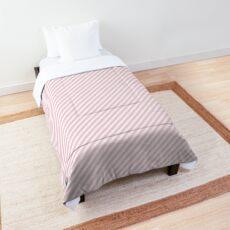 Mini Light Soft Pastel Pink und White Candy Cane Stripes Tagesdecke