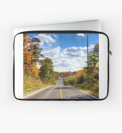 Autumn Road to Nowhere Laptop Sleeve