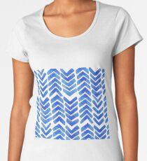 Chevron nautical geo Women's Premium T-Shirt