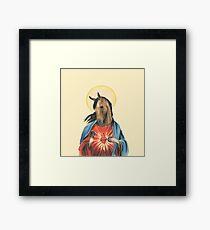 Equine Jesus Framed Print