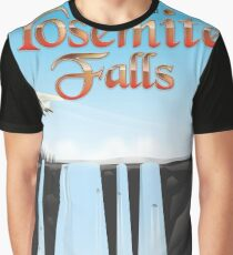 Yosemite Falls California travel poster Graphic T-Shirt