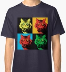 CAT POP ART  yellow red green Classic T-Shirt
