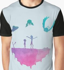 Rick and Morty silhouette Graphic T-Shirt