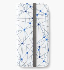 Network background. Connection concept.  iPhone Wallet/Case/Skin