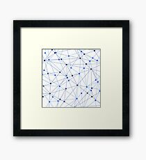 Network background. Connection concept.  Framed Print