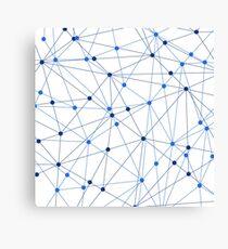 Network background. Connection concept.  Canvas Print