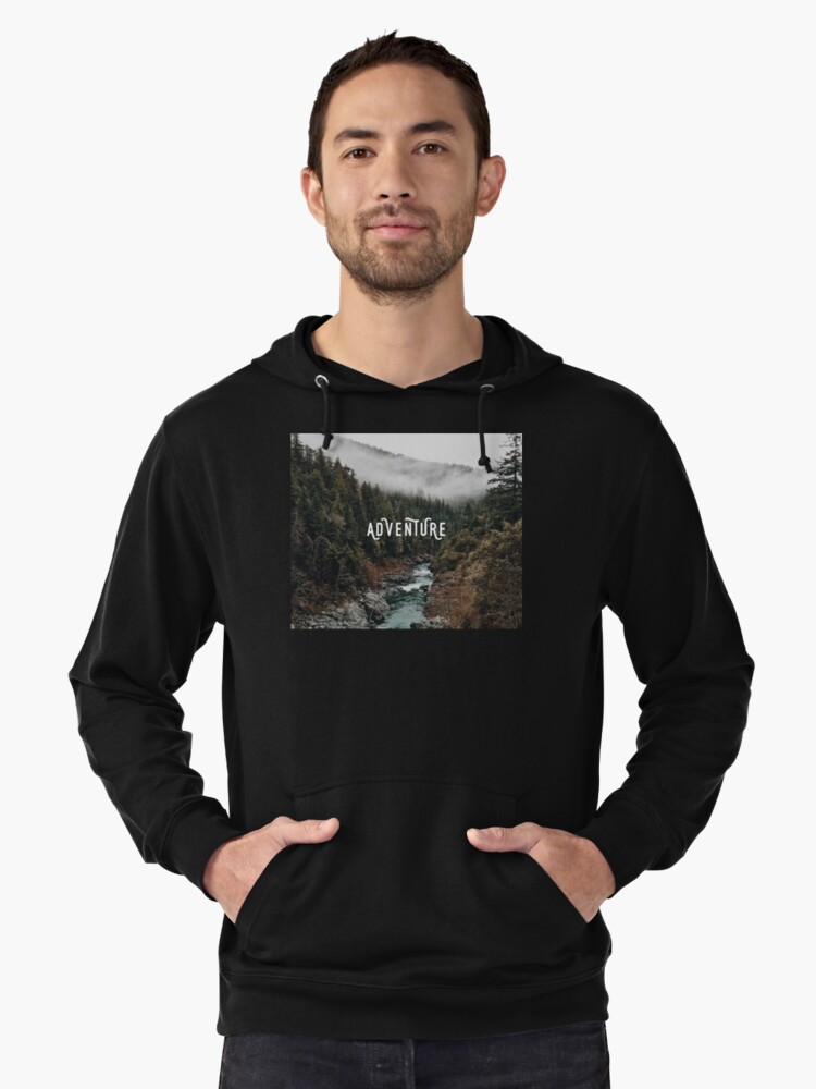 River in the Forest - Adventure Lightweight Hoodie Front