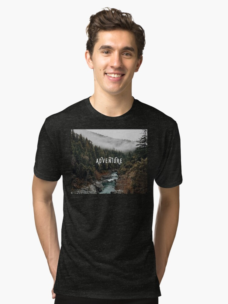 River in the Forest - Adventure Tri-blend T-Shirt Front